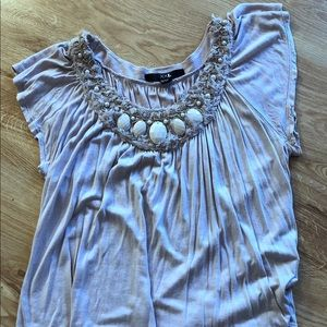 Forever 21 mauve faux pearl short sleeve tee